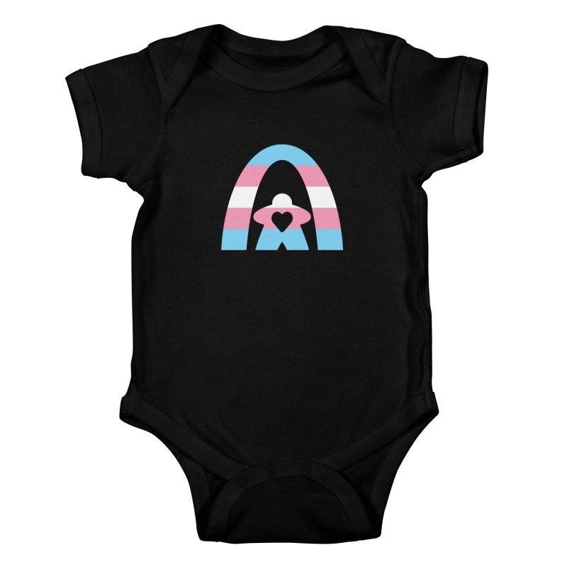 Geekway Trans Kids Baby Bodysuit by Geekway's Artist Shop