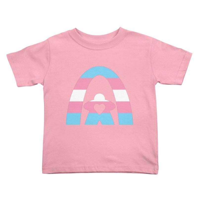 Geekway Trans Kids Toddler T-Shirt by Geekway's Artist Shop