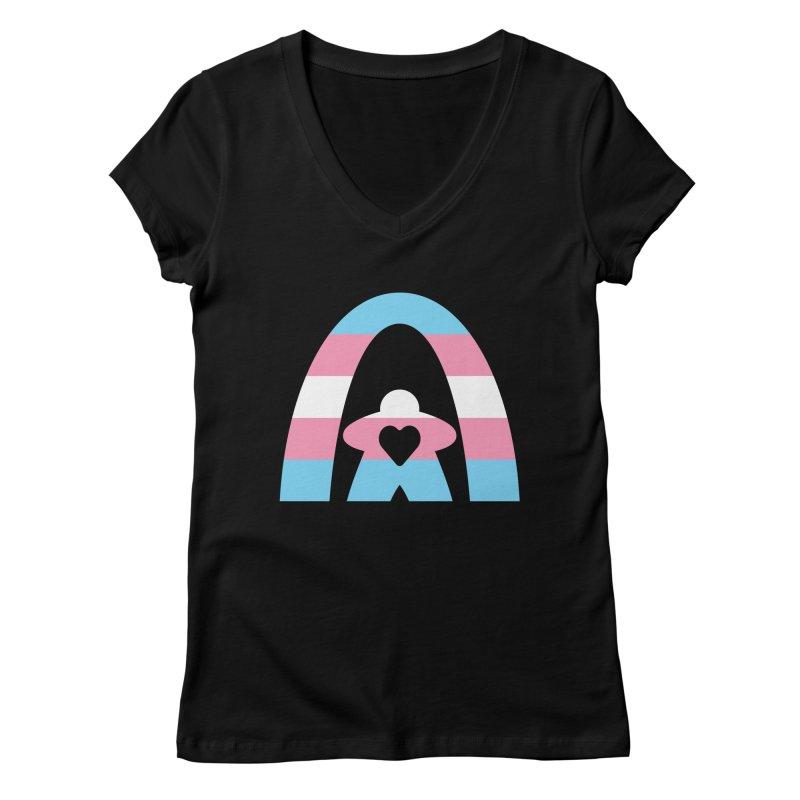 Geekway Trans Women's V-Neck by Geekway's Artist Shop
