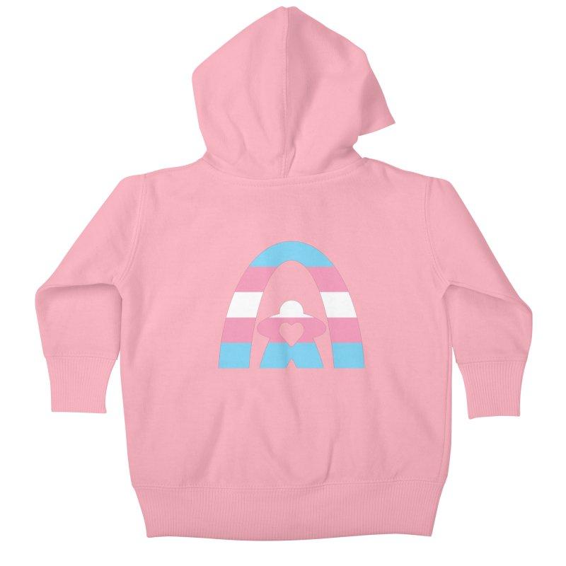Geekway Trans Kids Baby Zip-Up Hoody by Geekway's Artist Shop