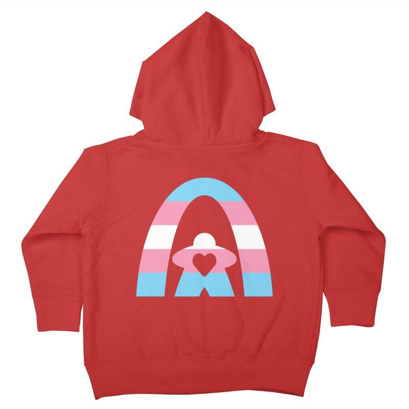 Geekway Trans Kids Toddler Zip-Up Hoody by Geekway's Artist Shop