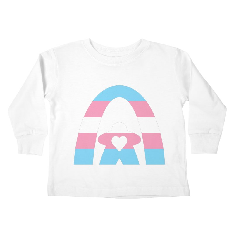 Geekway Trans Kids Toddler Longsleeve T-Shirt by Geekway's Artist Shop