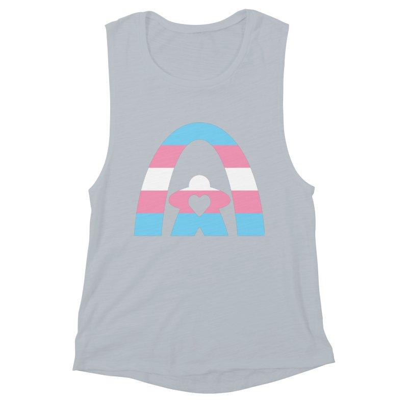 Geekway Trans Women's Muscle Tank by Geekway's Artist Shop