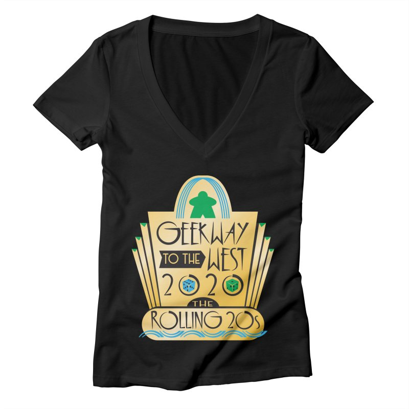 Geekway to the West 2020 theme shirt Women's V-Neck by Geekway's Artist Shop
