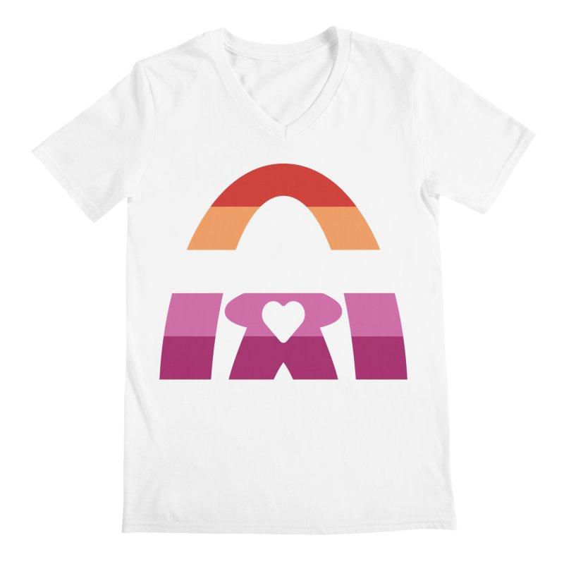 Geekway Lesbian pride shirt Men's V-Neck by Geekway's Artist Shop