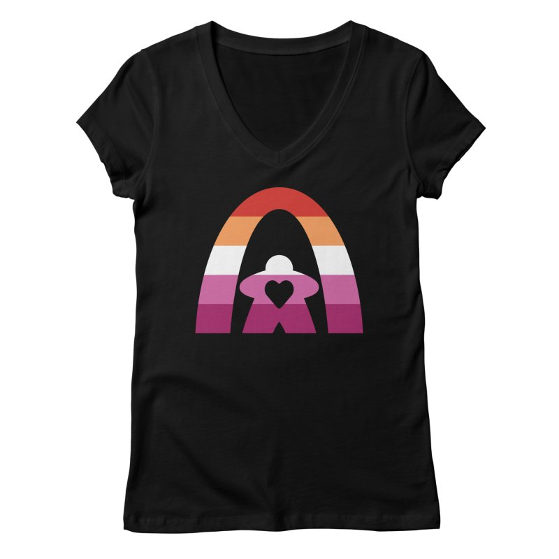 Geekway Lesbian pride shirt Women's V-Neck by Geekway's Artist Shop