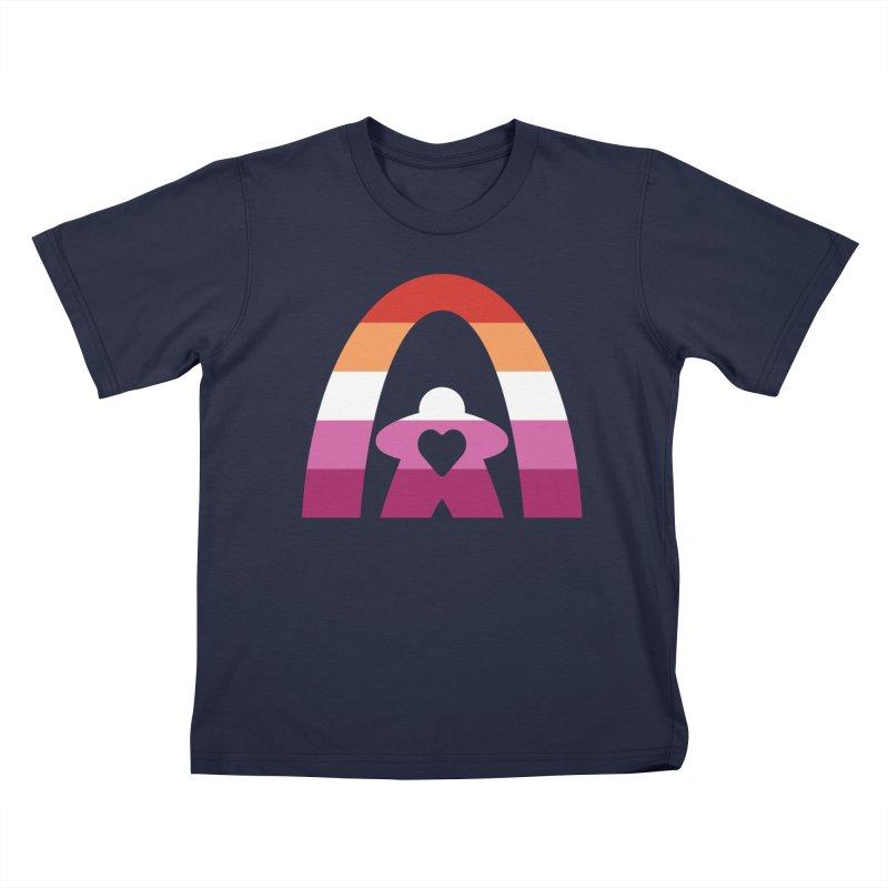 Geekway Lesbian pride shirt Kids T-Shirt by Geekway's Artist Shop