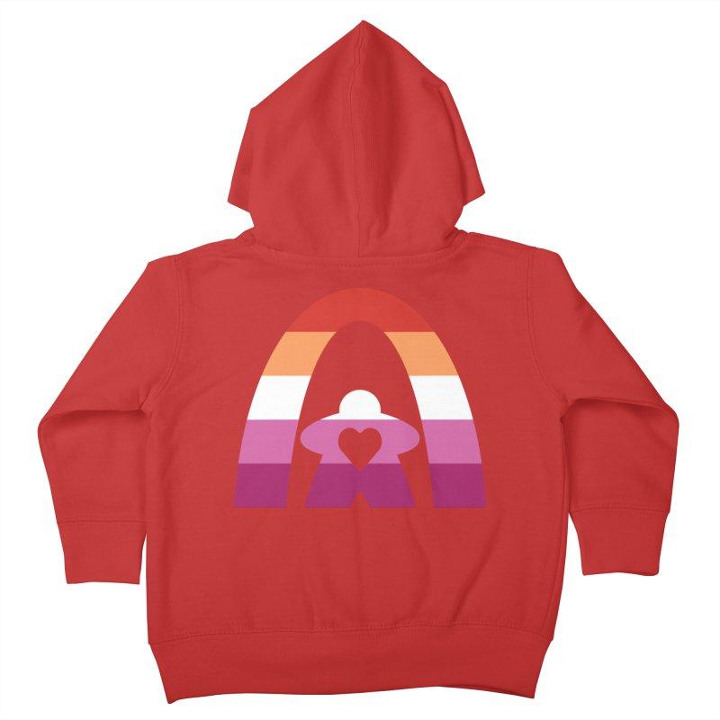 Geekway Lesbian pride shirt Kids Toddler Zip-Up Hoody by Geekway's Artist Shop