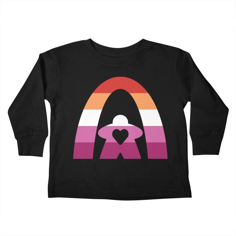 Geekway Lesbian pride shirt Kids Toddler Longsleeve T-Shirt by Geekway's Artist Shop