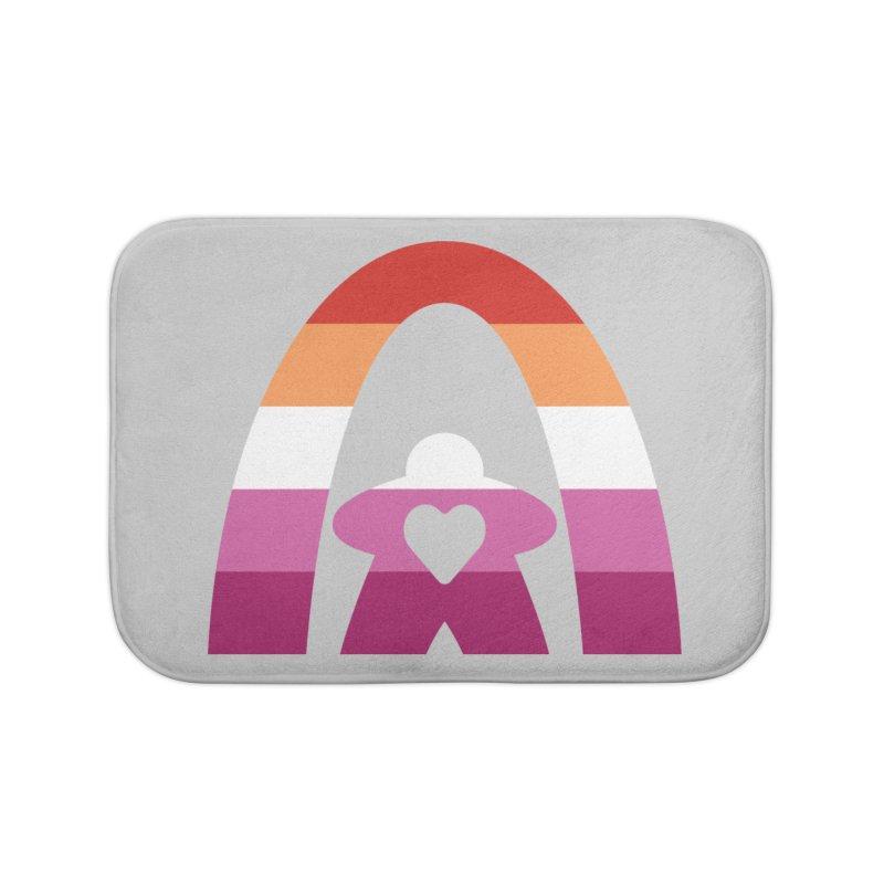 Geekway Lesbian pride shirt Home Bath Mat by Geekway's Artist Shop