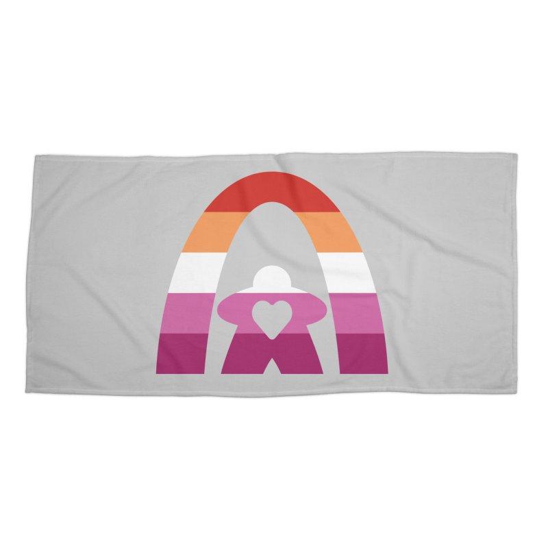Geekway Lesbian pride shirt Accessories Beach Towel by Geekway's Artist Shop