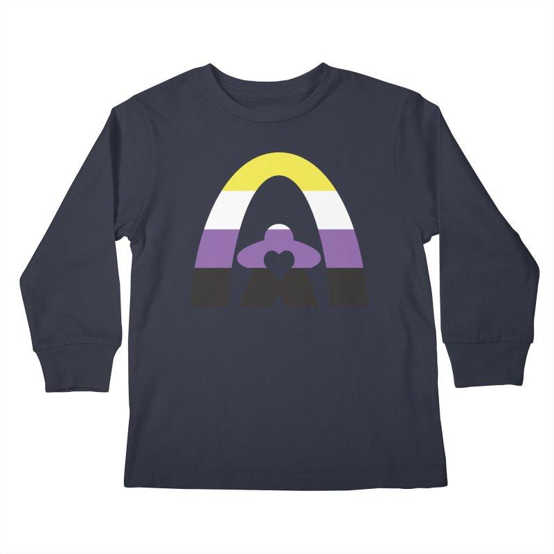 Geekway Pride Non Binary Shirt Kids Longsleeve T-Shirt by Geekway's Artist Shop