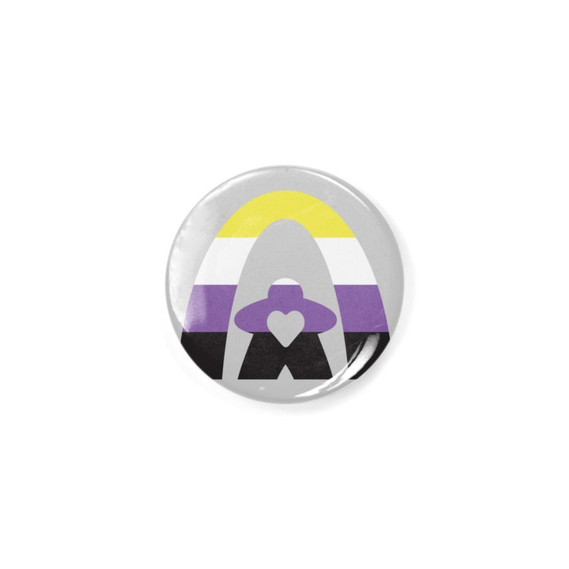 Geekway Pride Non Binary Shirt Accessories Button by Geekway's Artist Shop