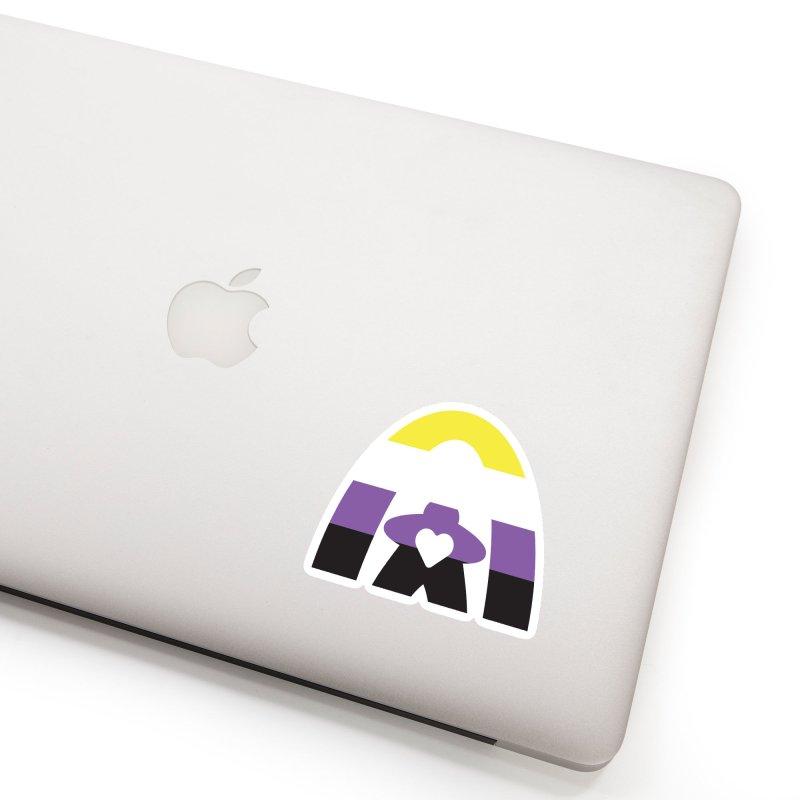 Geekway Pride Non Binary Shirt Accessories Sticker by Geekway's Artist Shop