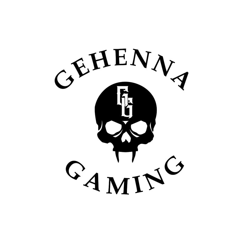 Gehenna Gaming skull logo Home Fine Art Print by The Gehenna Gaming Shop