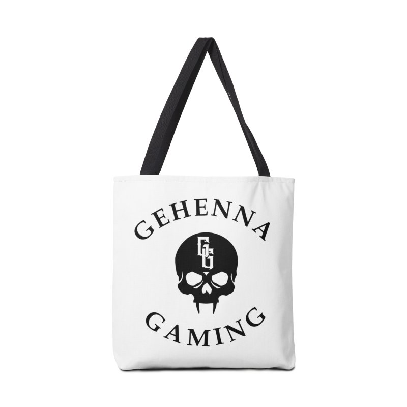 Gehenna Gaming skull logo Accessories Bag by The Gehenna Gaming Shop