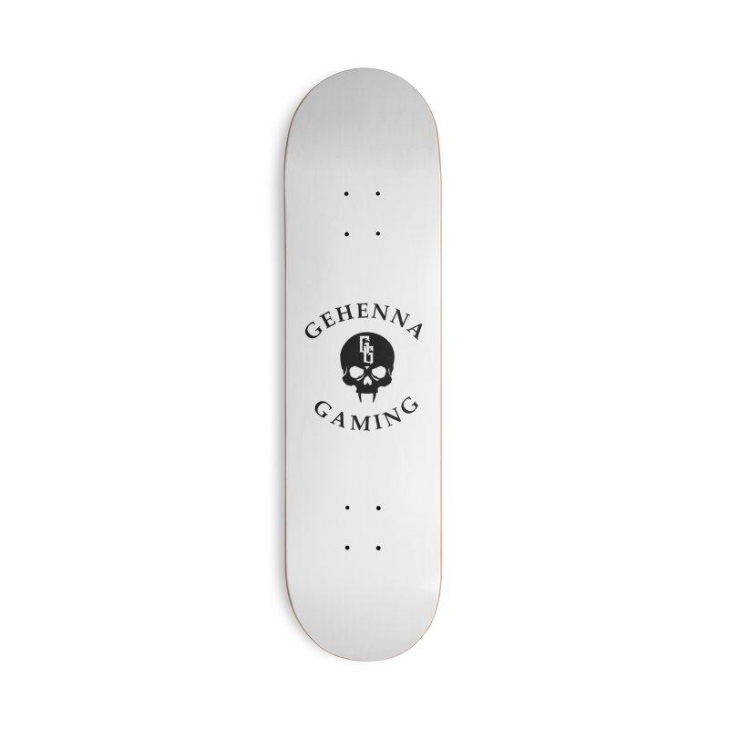 Gehenna Gaming skull logo Accessories Skateboard by The Gehenna Gaming Shop