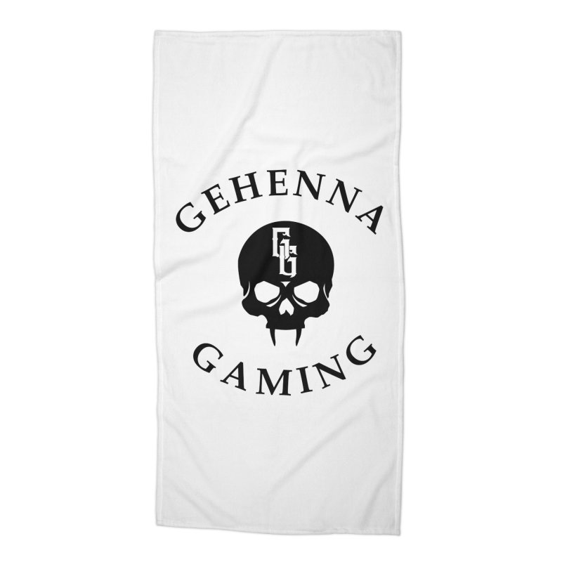 Gehenna Gaming skull logo Accessories Beach Towel by The Gehenna Gaming Shop