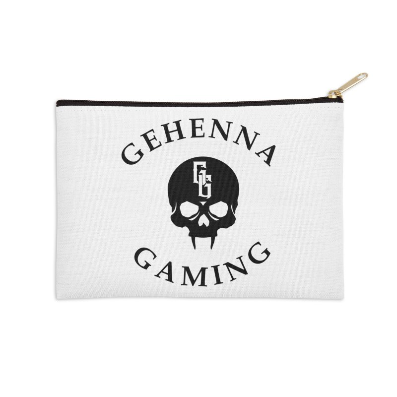 Gehenna Gaming skull logo Accessories Zip Pouch by The Gehenna Gaming Shop