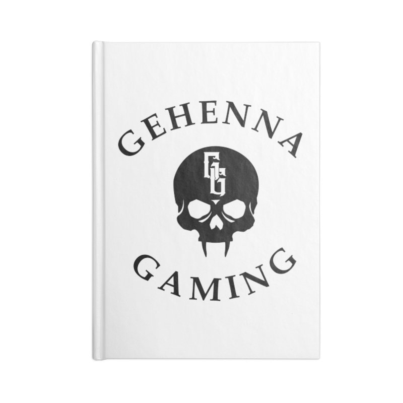 Gehenna Gaming skull logo Accessories Notebook by The Gehenna Gaming Shop