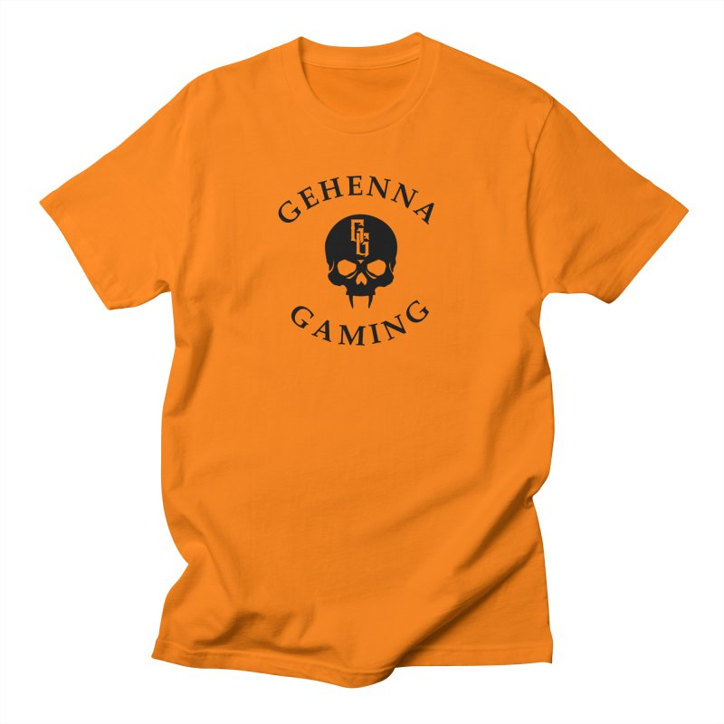 Gehenna Gaming skull logo Men's Regular T-Shirt by The Gehenna Gaming Shop