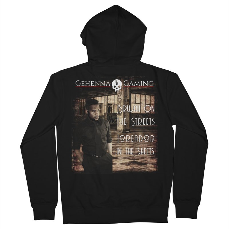 Brujah on the streets, Toreador in the sheets Men's French Terry Zip-Up Hoody by The Gehenna Gaming Shop