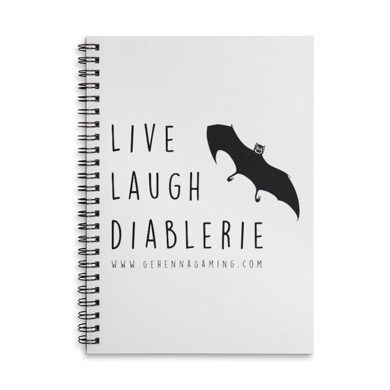 Live, Laugh, Diablerie Accessories Lined Spiral Notebook by GehennaGaming's Artist Shop