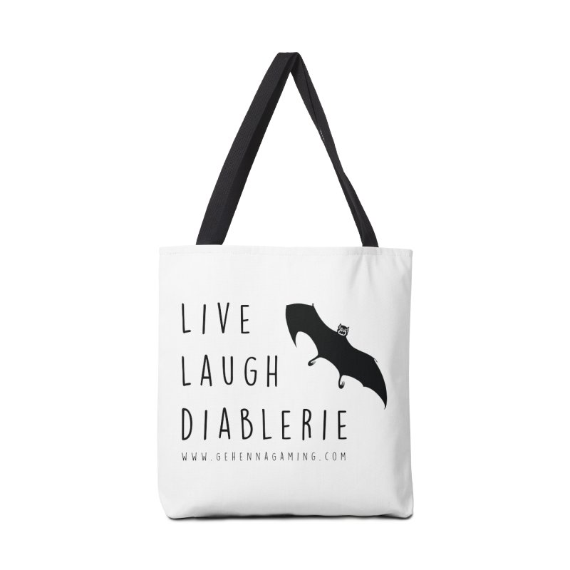 Live, Laugh, Diablerie Accessories Tote Bag Bag by GehennaGaming's Artist Shop