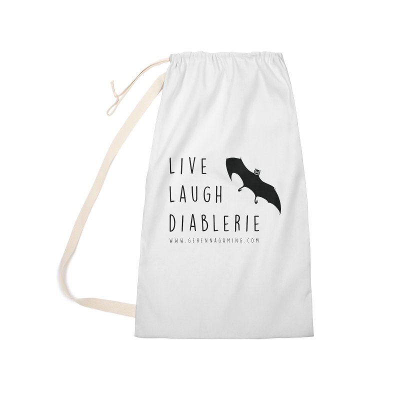 Live, Laugh, Diablerie Accessories Laundry Bag Bag by The Gehenna Gaming Shop