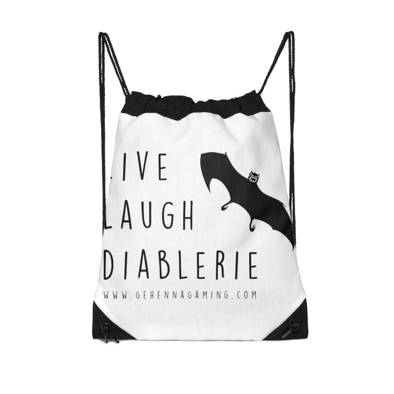 Live, Laugh, Diablerie Accessories Drawstring Bag Bag by The Gehenna Gaming Shop