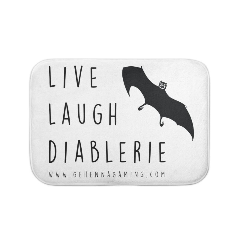 Live, Laugh, Diablerie Home Bath Mat by GehennaGaming's Artist Shop