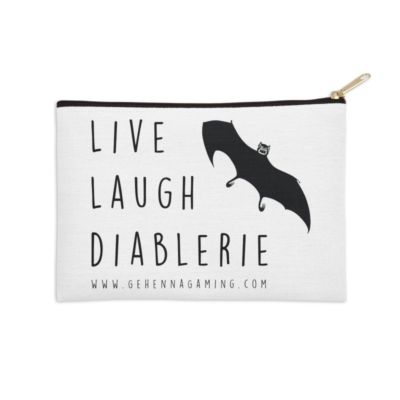 Live, Laugh, Diablerie Accessories Zip Pouch by The Gehenna Gaming Shop
