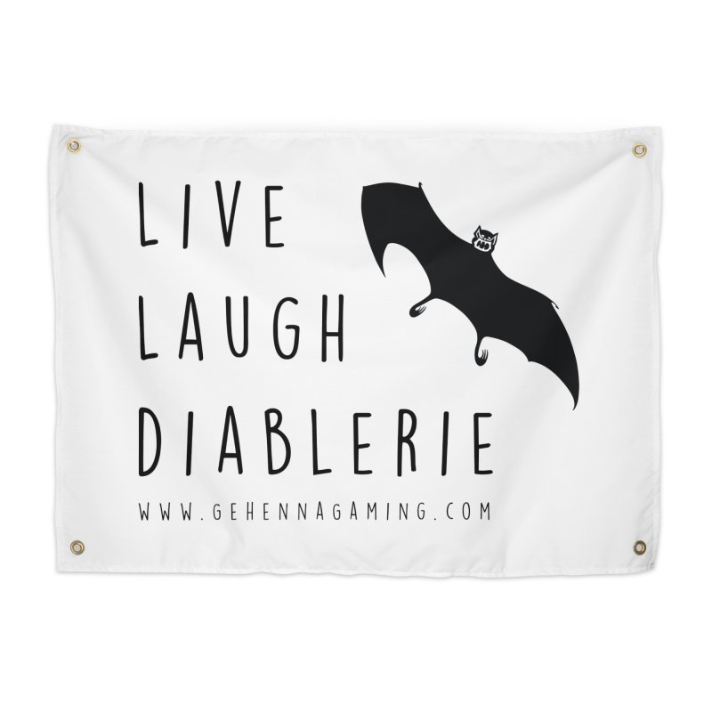 Live, Laugh, Diablerie Home Tapestry by The Gehenna Gaming Shop