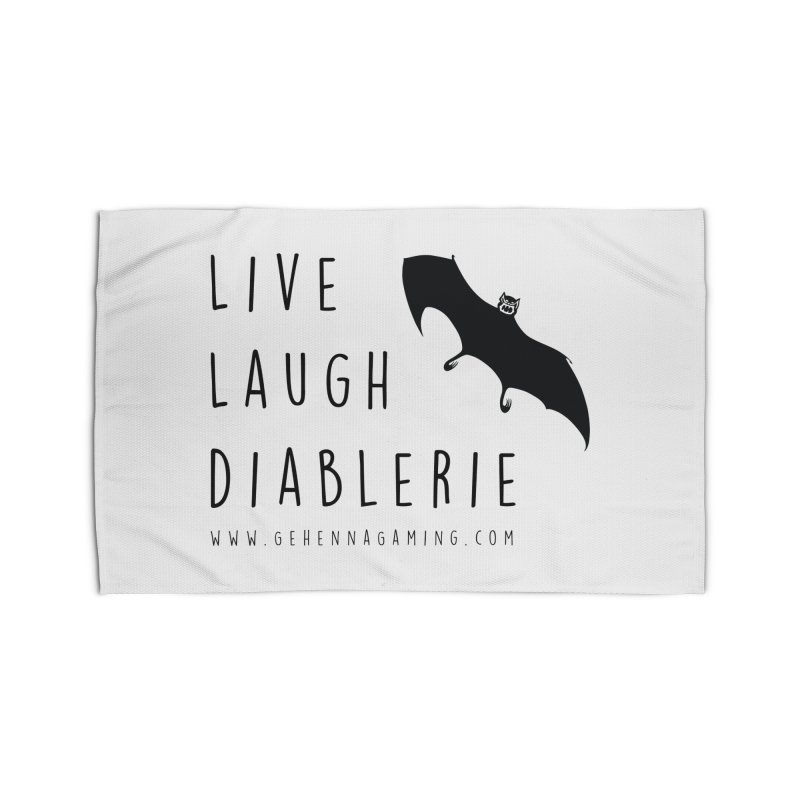 Live, Laugh, Diablerie Home Rug by The Gehenna Gaming Shop
