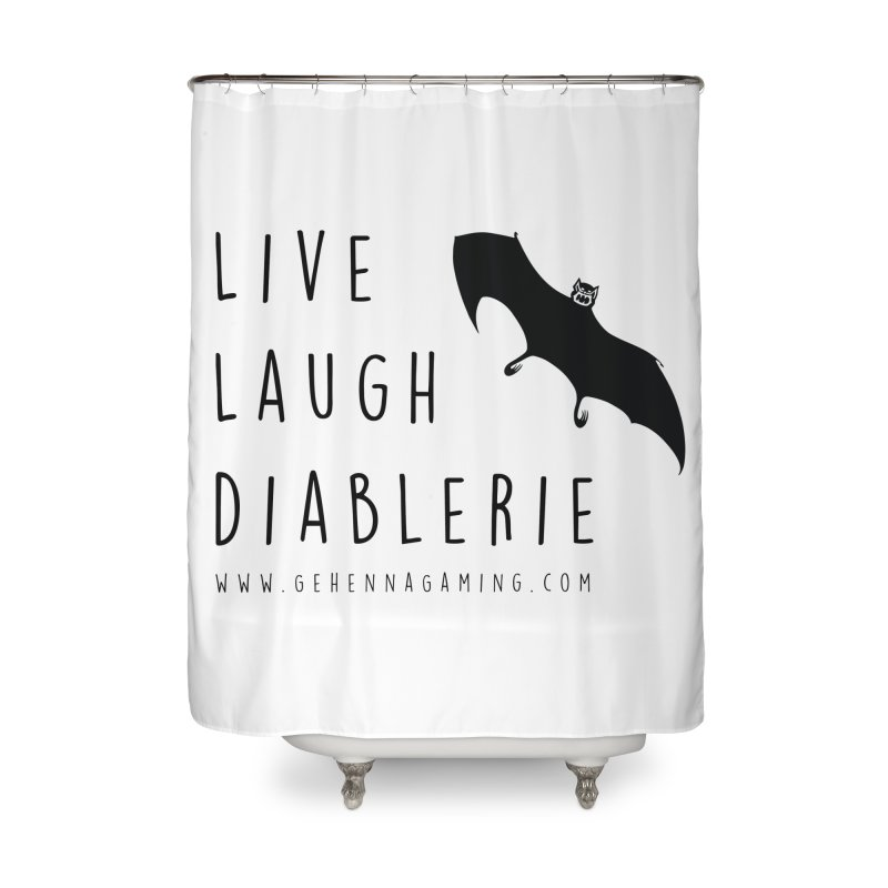 Live, Laugh, Diablerie Home Shower Curtain by GehennaGaming's Artist Shop