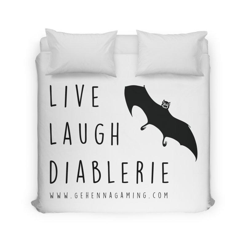 Live, Laugh, Diablerie Home Duvet by GehennaGaming's Artist Shop