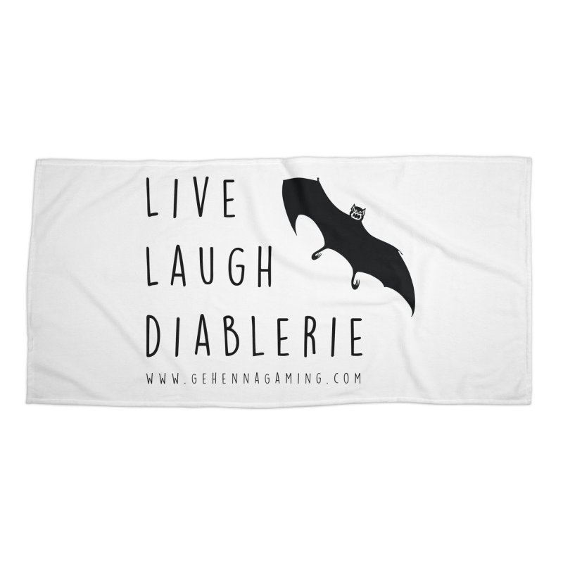 Live, Laugh, Diablerie Accessories Beach Towel by GehennaGaming's Artist Shop