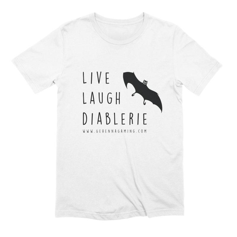 Live, Laugh, Diablerie Men's Extra Soft T-Shirt by GehennaGaming's Artist Shop