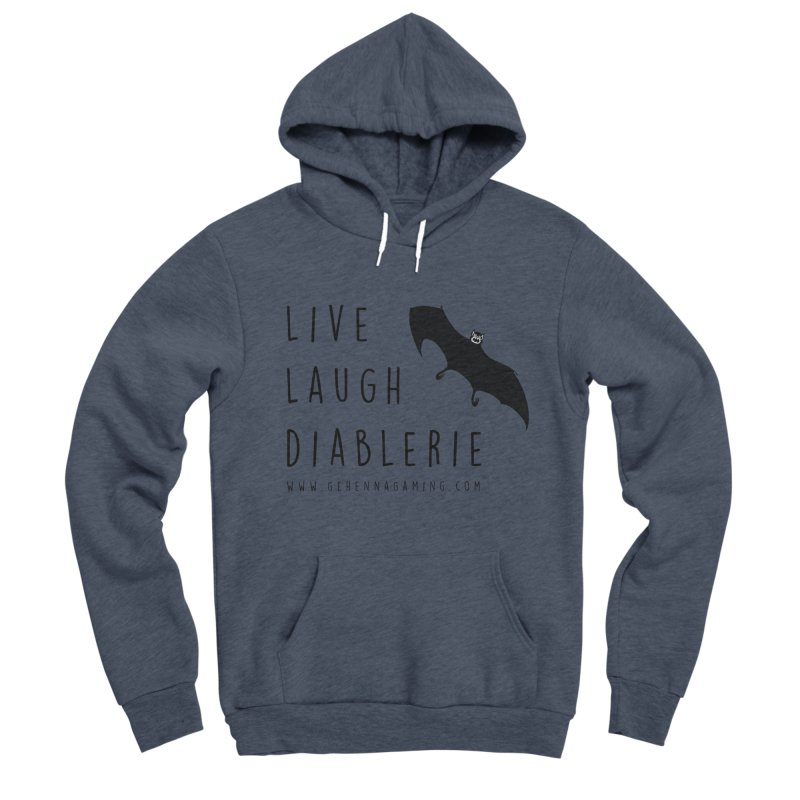 Live, Laugh, Diablerie Men's Sponge Fleece Pullover Hoody by GehennaGaming's Artist Shop