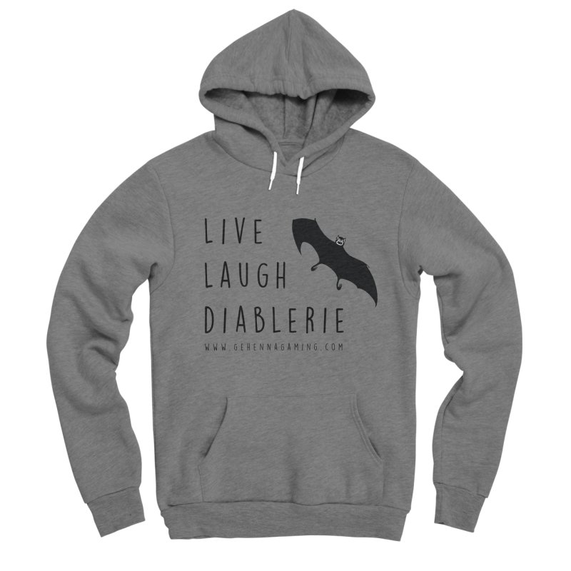 Live, Laugh, Diablerie Men's Sponge Fleece Pullover Hoody by The Gehenna Gaming Shop