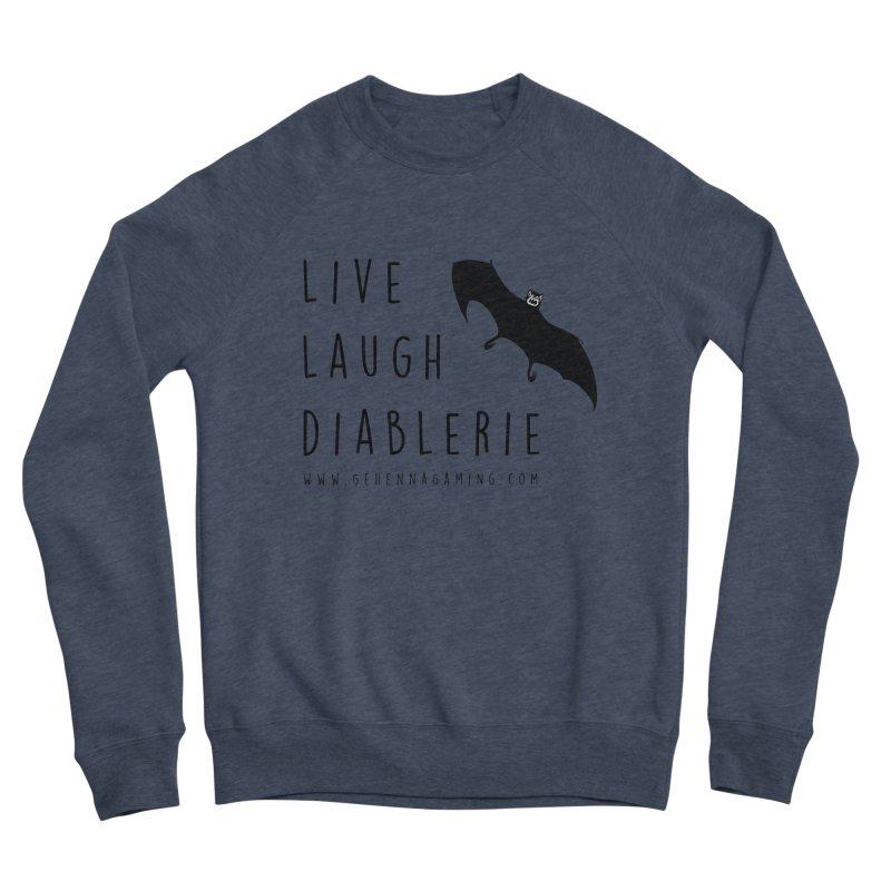 Live, Laugh, Diablerie Men's Sponge Fleece Sweatshirt by GehennaGaming's Artist Shop