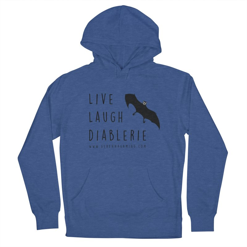 Live, Laugh, Diablerie Men's French Terry Pullover Hoody by The Gehenna Gaming Shop