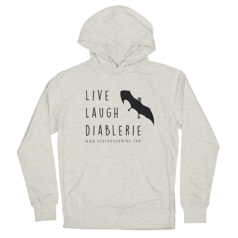 Live, Laugh, Diablerie Men's French Terry Pullover Hoody by GehennaGaming's Artist Shop
