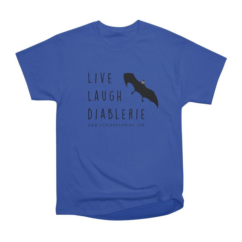 Live, Laugh, Diablerie Women's Heavyweight Unisex T-Shirt by GehennaGaming's Artist Shop