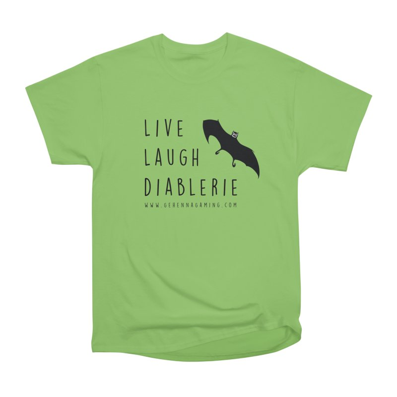 Live, Laugh, Diablerie Women's Heavyweight Unisex T-Shirt by GehennaGaming's Artist Shop