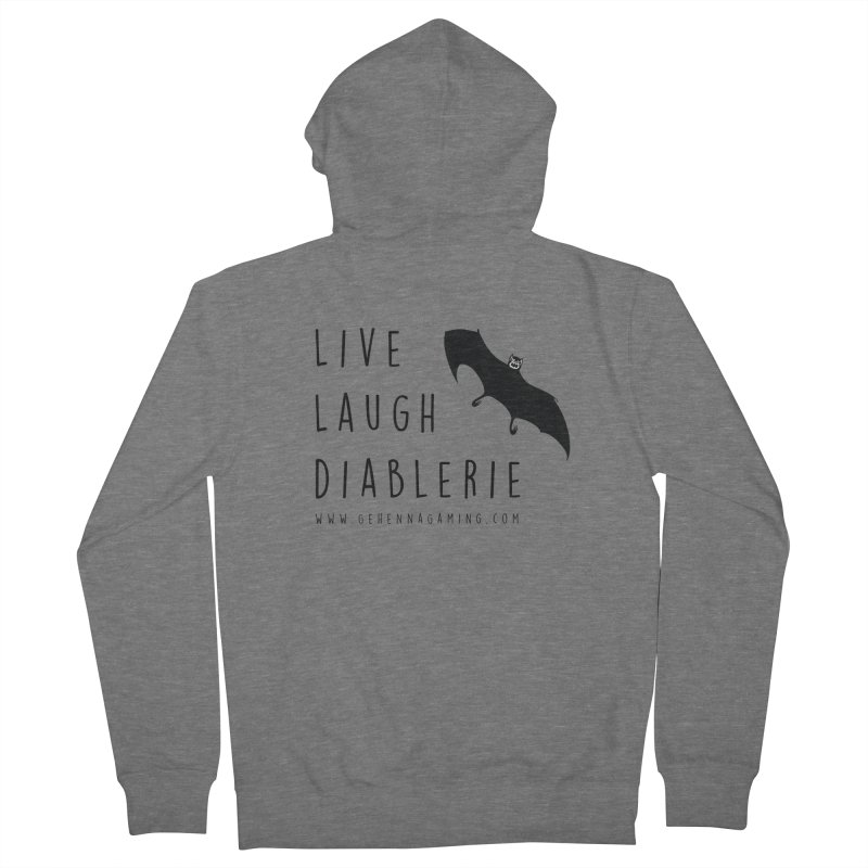 Live, Laugh, Diablerie Men's French Terry Zip-Up Hoody by The Gehenna Gaming Shop