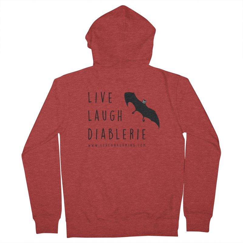Live, Laugh, Diablerie Men's French Terry Zip-Up Hoody by GehennaGaming's Artist Shop