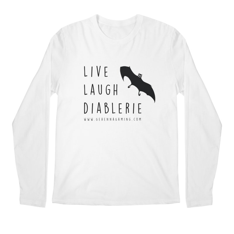 Live, Laugh, Diablerie Men's Regular Longsleeve T-Shirt by GehennaGaming's Artist Shop