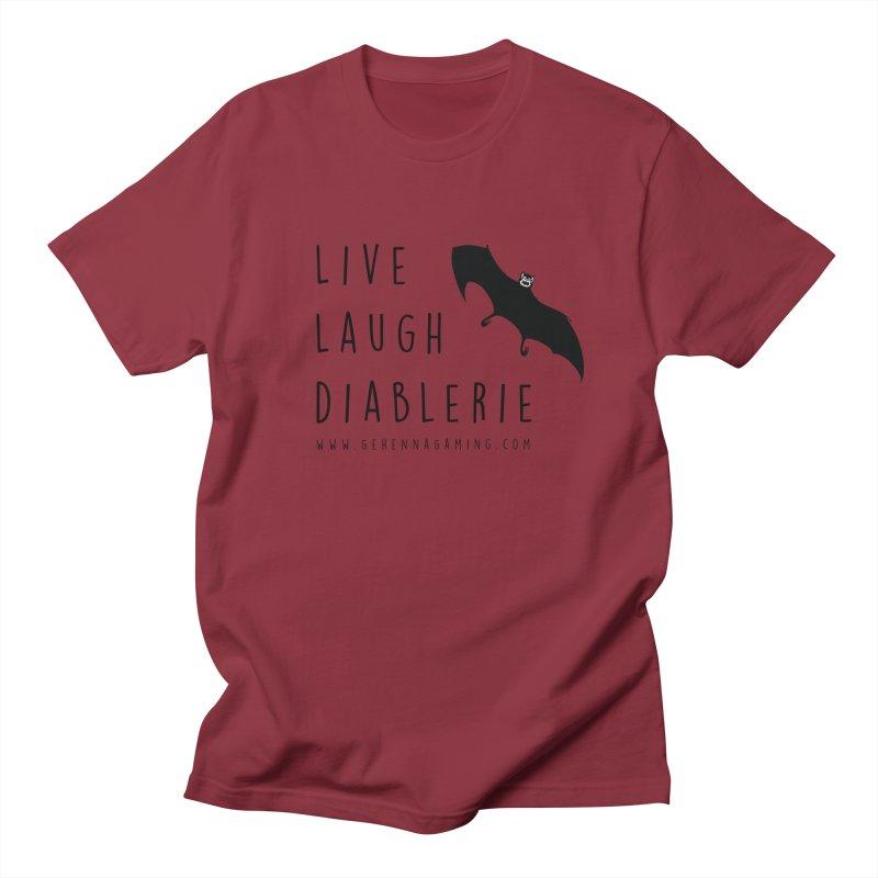 Live, Laugh, Diablerie Men's Regular T-Shirt by GehennaGaming's Artist Shop