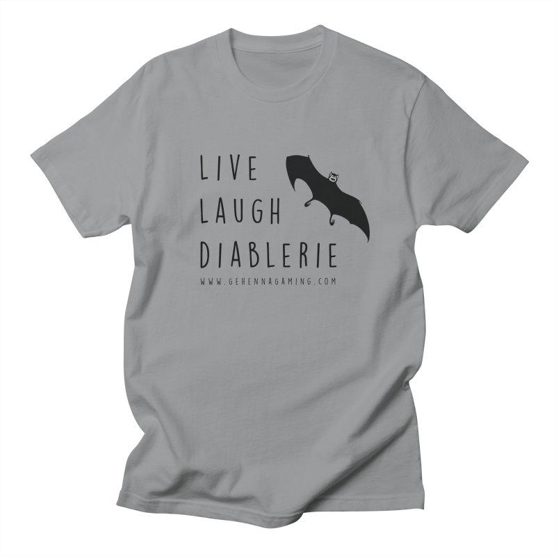 Live, Laugh, Diablerie Women's Regular Unisex T-Shirt by GehennaGaming's Artist Shop